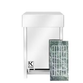 Электрическая печь Karina Eco 3, нержавеющая сталь, камень змеевик Ош