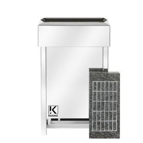 Электрическая печь Karina Eco 3, нержавеющая сталь, камень серпентинит Ош