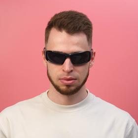 Очки солнцезащитные спортивные 'Мастер К.',  uv 400, 11.5х13х4.5 см, линза 4.5х6 см Ош