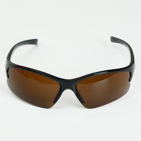 Очки солнцезащитные, велосипедные 'Мастер К.', uv 400, 11.5х13х4 см, линза 4х7 см, коричневая   4738 Ош