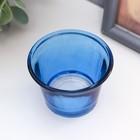 """Подсвечник стекло на 1 свечу """"Глянец"""" синий 4,7х6,2х6,2 см - Фото 2"""