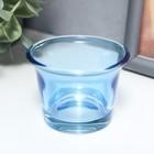 """Подсвечник стекло на 1 свечу """"Глянец"""" синий 4,7х6,2х6,2 см - Фото 3"""