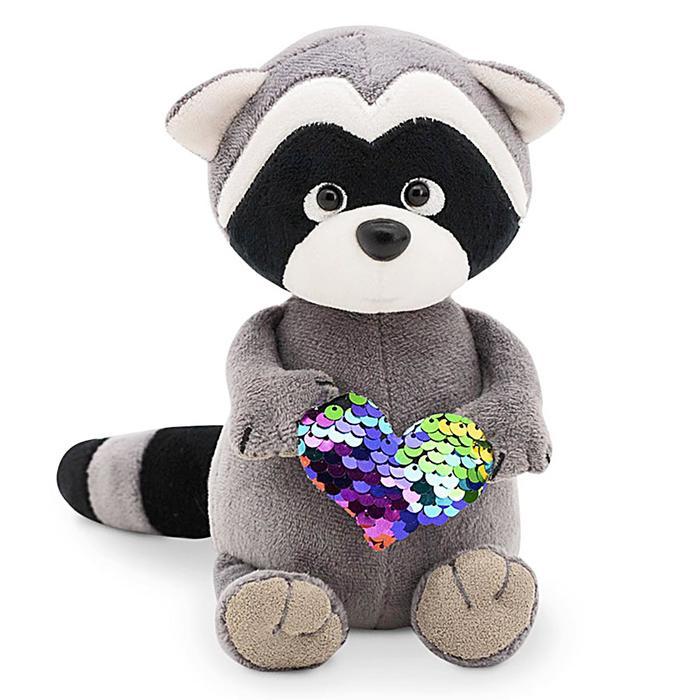 Мягкая игрушка «Енотик Дэнни. Радужное сердце», 15 см