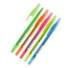 Ручка шариковая «Стамм» 511 NEON с блестками, узел 0.7 мм, чернила синие на масляной основе, стержень 152 мм, микс