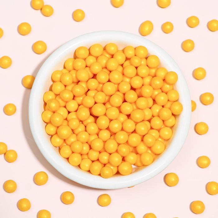 Воздушный рис в кондитерской глазури «Жемчуг», золото, диаметр 6-8 мм, 50 г