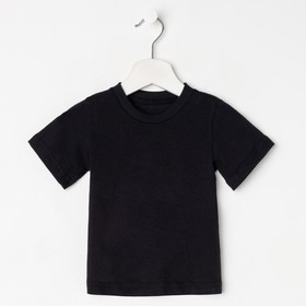 Футболка детская, цвет чёрный, рост 116 см