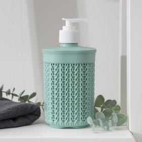 Диспенсер для мыла «Вязание», цвет фисташковый Ош