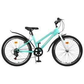 Велосипед 24' Progress Ingrid low, цвет голубой/белый, размер 13' Ош