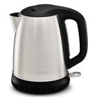 Чайник Tefal KI270D30, металл, 1.7 л, 2400 Вт, автоотключение, чёрно-серебристый - Фото 1