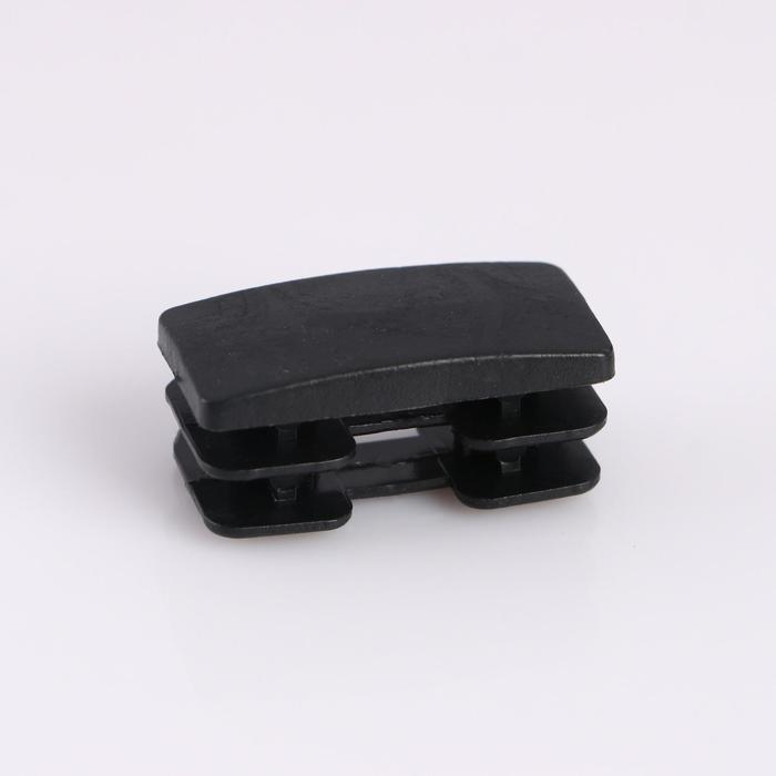 Заглушка внутренняя.20х40 мм, универсальная, черная