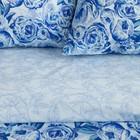Постельное бельё Этель 1.5сп «Голубые пионы» 143х215 см, 150х70 см-2шт, 100% хлопок, перкаль - Фото 2