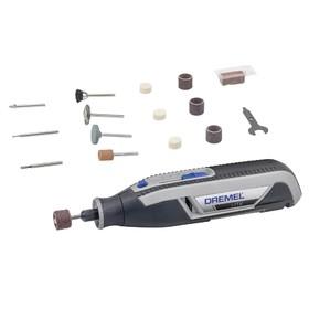 Многофункциональный инструмент Dremel 7760-15, аккумуляторный, цанга 3.2 мм, 15 насадок