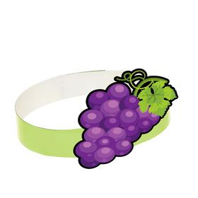 Маска-ободок «Виноград», картон