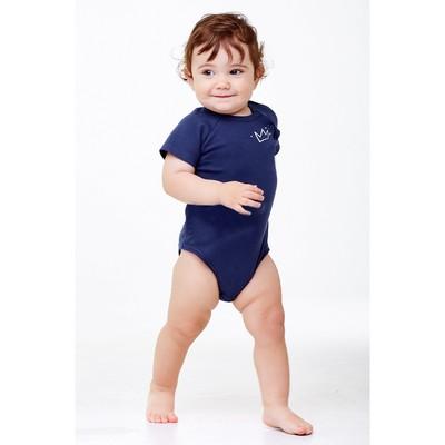 Боди детское, рост 68 см, цвет тёмно-синий - Фото 1