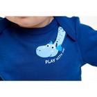 Футболка для мальчика, рост 62 см, цвет тёмно-голубой - Фото 3