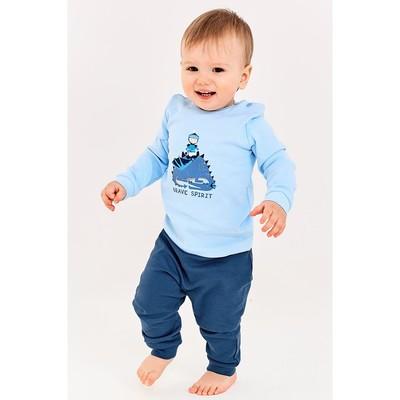 Лонгслив для мальчика, рост 68 см, цвет голубой - Фото 1