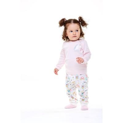 Лонгслив для девочки, рост 68 см, цвет светло-розовый - Фото 1