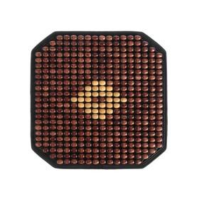 Накидка-массажер на сиденье Nova Bright, коричневая Ош