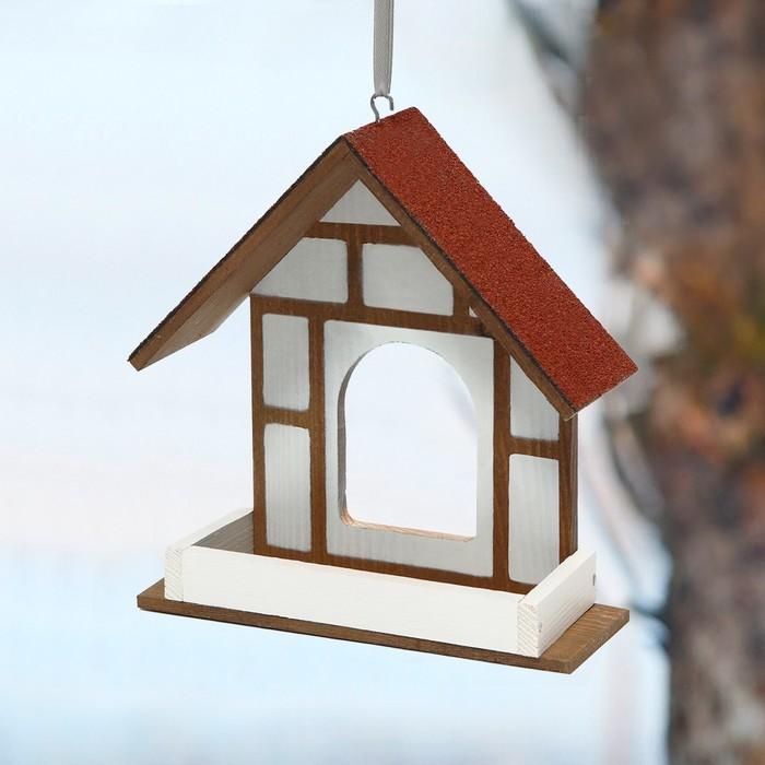 Kopмушка для птиц «Уличная веранда», 40 × 16 × 17 см