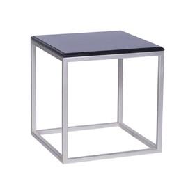 Стол декоративный 'ArtDeco' ножки металл серебро столешница черная, 45х45х45см Ош