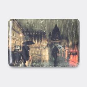 Обложка для проездного билета, цвет коричневый, «Санкт-Петербург»