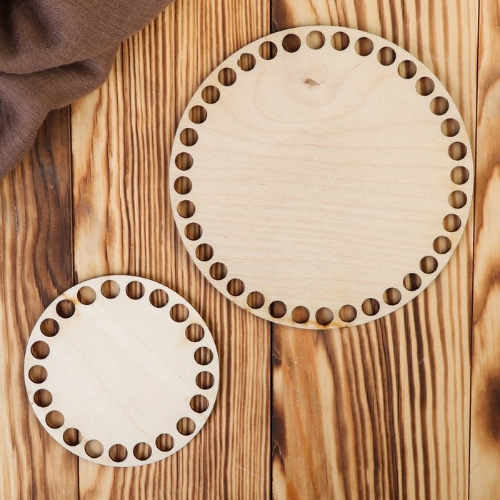 """Заготовка для вязания """"Два круга"""" (набор 2 детали) 10 и 15 см"""
