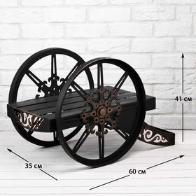 Дровница с поддоном 'Пушка' 60х35х41 см Ош