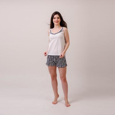 Костюм женский «Алиса» (майка, шорты), цвет белый, размер 46
