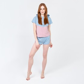 Комплект «Рассвет» женский (футболка, шорты) цвет голубой, размер 42