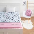 """Простыня LoveLife """"Детский леопард"""", голубой, 150*215 см, 125 г/м2, сатин, 100 % хл"""