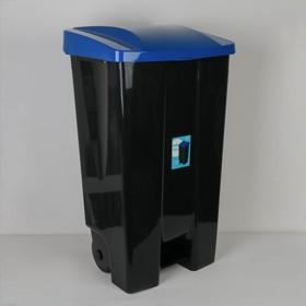 Контейнер с педалью на колёсах, 110 л, цвет синий Ош