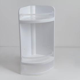 Полка для ванной угловая, 27×17×48 см, цвет прозрачный