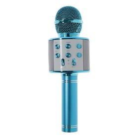 Микрофон для караоке Belsis MA3001BE, Bluetooth, FM, microSD, синий