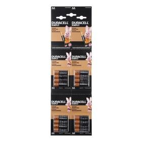 Батарейка алкалиновая Duracell Simply, AA, LR6-16BL, 1.5В, отрывной блистер, 4х4 шт.