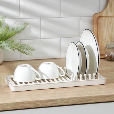 Сушилка для посуды «Мини», 37×15 см, цвет белая роза - Фото 1