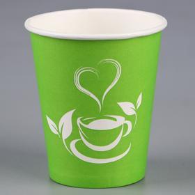 """Стакан """"Зелёный чай"""" для горячих напитков, 250 мл, диаметр 80 мм"""