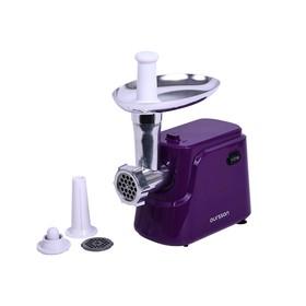 Мясорубка электрическая Oursson MG5550/SP, 800 Вт, 1.8 кг/ч, реверс, фиолетовая Ош