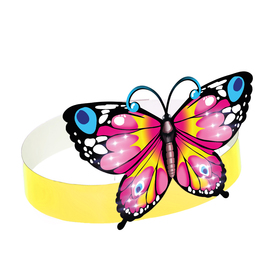 Маска из картона «Бабочка розовая»