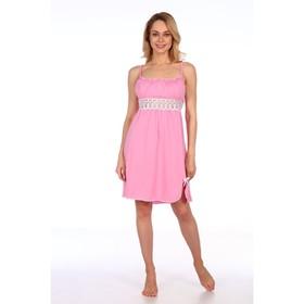 Сорочка женская, цвет розовый микс, размер 44