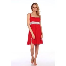 Сорочка женская, цвет красный, размер 42