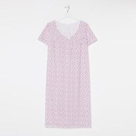 Сорочка женская, цвет красные ромашки, размер 50