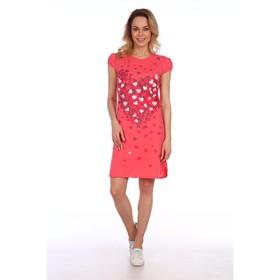 Туника женская Valentine's Day, цвет коралл, размер 44