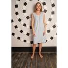 Сорочка женская, цвет белый/синие васильки, размер 48