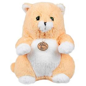 Мягкая игрушка «Толстый кот», 16 см, цвет персиковый