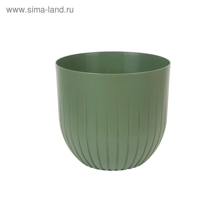 Live-in-green / Пластиковый горшок с вкладкой «Альфа», цвет нефрит
