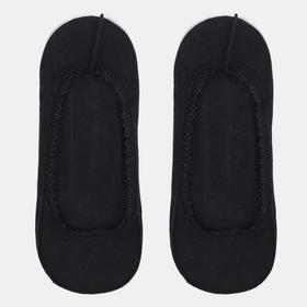 Подследники женские ажурные с резинкой, цвет чёрный, размер 23-25 (36-40)