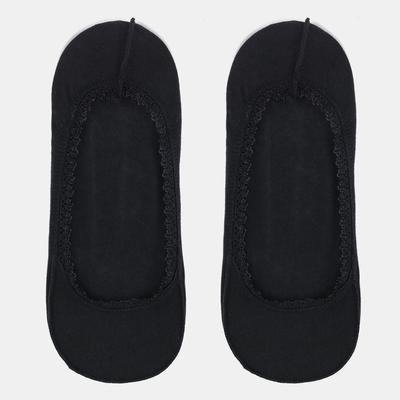 Подследники женские ажурные с резинкой, цвет чёрный, размер 23-25 (36-40) - Фото 1