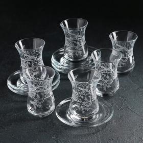 Сервиз чайный «Ассоль», 12 предметов: стакан чайный 160 мл 6 шт, блюдце 6 шт
