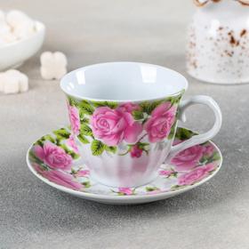 Чайная пара Флора «Сад» 220 мл, блюдце