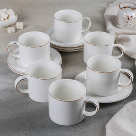 Сервиз чайный 12 предметов «Дакини», чашки 280 мл